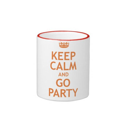 keep calm and party on ringer mug