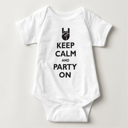 Keep Calm and Party On T Shirt