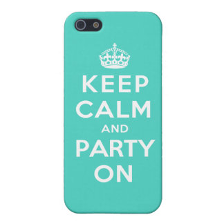 Keep Calm and Party On - Turquoise Green iPhone SE/5/5s Case