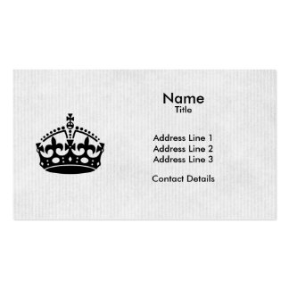 Keep Calm and Party on White Kraft Paper Business Card