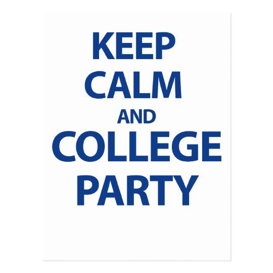 Keep Calm and Party Postcard