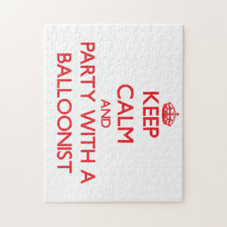 Keep Calm and Party With a Balloonist Puzzle