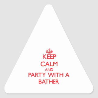 Keep Calm and Party With a Bather Triangle Sticker