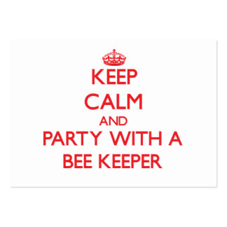 Keep Calm and Party With a Bee Keeper Business Card Template