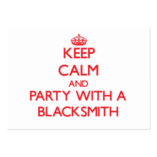 Keep Calm and Party With a Blacksmith Business Card