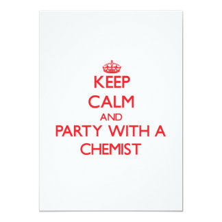Keep Calm and Party With a Chemist Personalized Invites