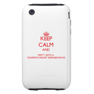 Keep Calm and Party With a Children's Resort Repre iPhone 3 Tough Cases