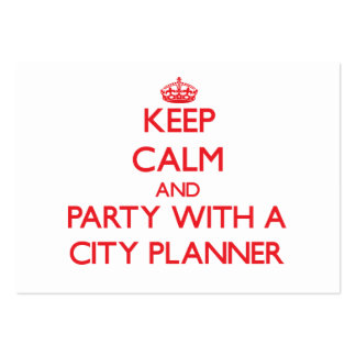 Keep Calm and Party With a City Planner Business Card Templates