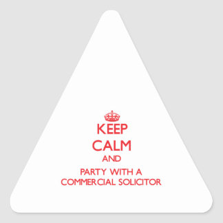 Keep Calm and Party With a Commercial Solicitor Sticker