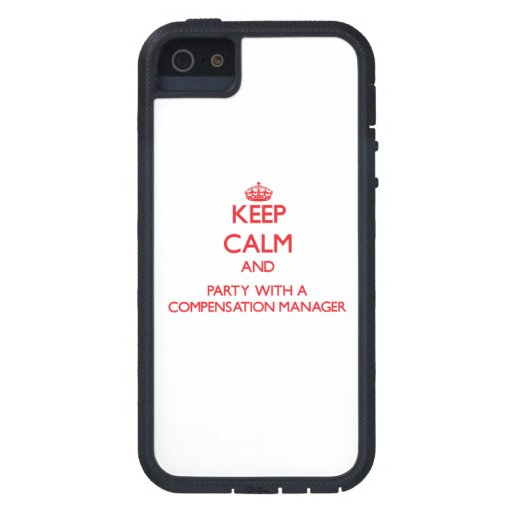 Keep Calm and Party With a Compensation Manager iPhone 5 Covers