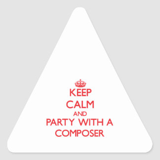 Keep Calm and Party With a Composer Sticker