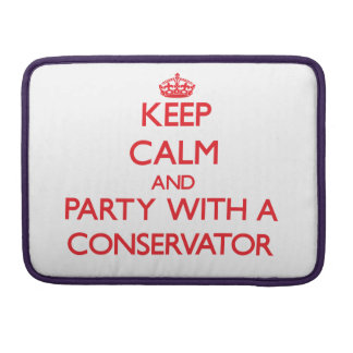 Keep Calm and Party With a Conservator Sleeve For MacBook Pro