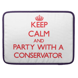 Keep Calm and Party With a Conservator MacBook Pro Sleeve