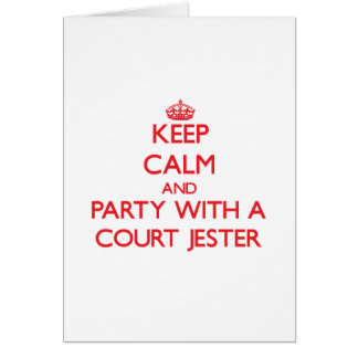 Keep Calm and Party With a Court Jester Greeting Cards