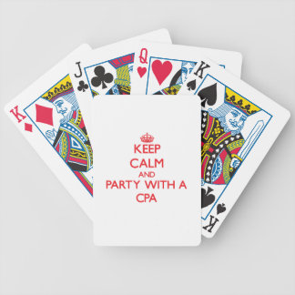 Keep Calm and Party With a Cpa Bicycle Playing Cards