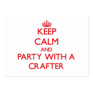 Keep Calm and Party With a Crafter Large Business Cards (Pack Of 100)