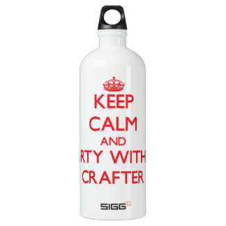Keep Calm and Party With a Crafter SIGG Traveler 1.0L Water Bottle