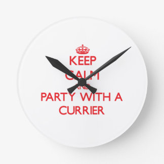 Keep Calm and Party With a Currier Wallclock