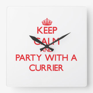 Keep Calm and Party With a Currier Wallclocks