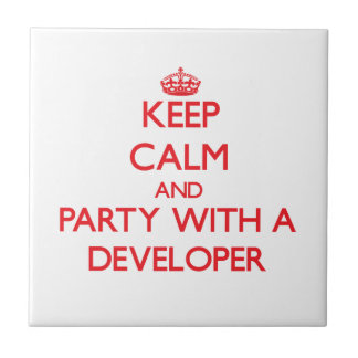 Keep Calm and Party With a Developer Ceramic Tile