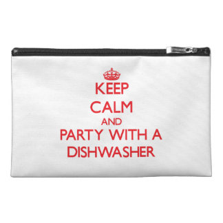 Keep Calm and Party With a Dishwasher Travel Accessory Bag