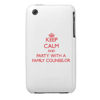 Keep Calm and Party With a Family Counselor iPhone 3 Cover