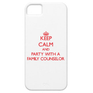 Keep Calm and Party With a Family Counselor iPhone 5 Cases
