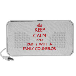 Keep Calm and Party With a Family Counselor Mini Speakers