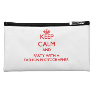 Keep Calm and Party With a Fashion Photographer Cosmetic Bags