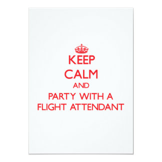 Keep Calm and Party With a Flight Attendant Card