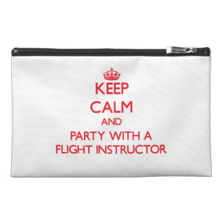 Keep Calm and Party With a Flight Instructor Travel Accessory Bags
