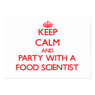 Keep Calm and Party With a Food Scientist Business Card Template