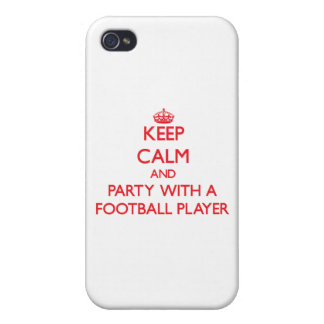 Keep Calm and Party With a Football Player iPhone 4 Case