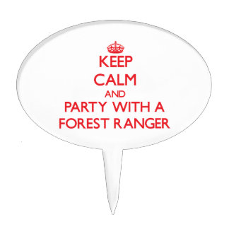 Keep Calm and Party With a Forest Ranger Cake Picks