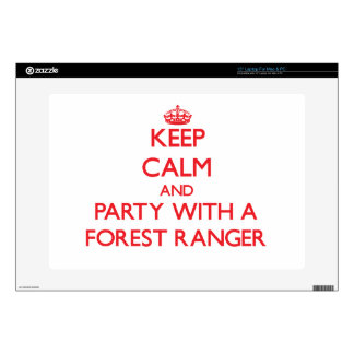 Keep Calm and Party With a Forest Ranger Decal For Laptop