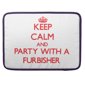 Keep Calm and Party With a Furbisher MacBook Pro Sleeve