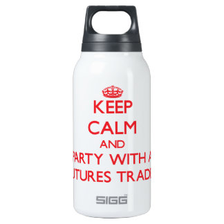 Keep Calm and Party With a Futures Trader 10 Oz Insulated SIGG Thermos Water Bottle