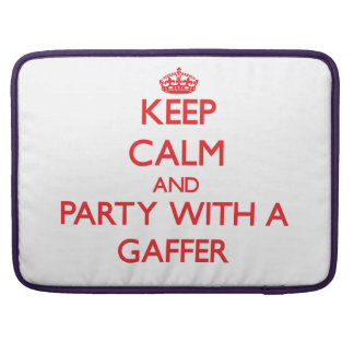 Keep Calm and Party With a Gaffer Sleeve For MacBook Pro