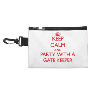 Keep Calm and Party With a Gate Keeper Accessories Bags
