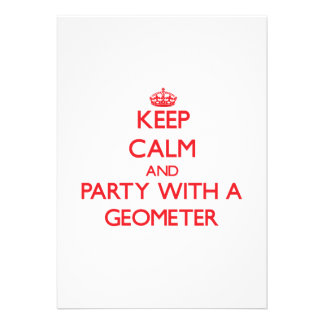 Keep Calm and Party With a Geometer Card