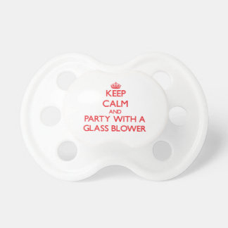Keep Calm and Party With a Glass Blower Pacifiers