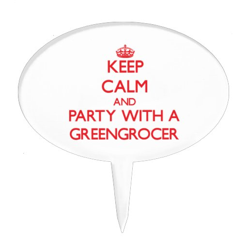 Keep Calm and Party With a Greengrocer Cake Topper