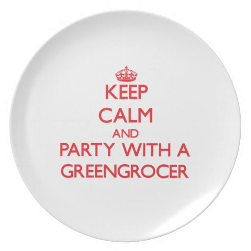 Keep Calm and Party With a Greengrocer Party Plates
