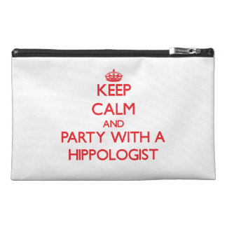 Keep Calm and Party With a Hippologist Travel Accessory Bag