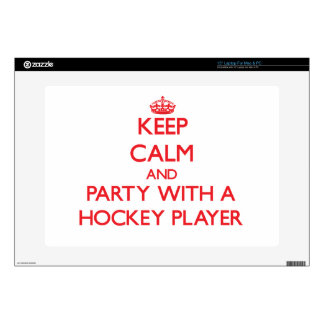 Keep Calm and Party With a Hockey Player Laptop Skin