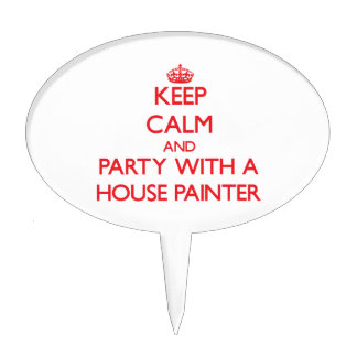 Keep Calm and Party With a House Painter Cake Picks