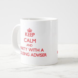 Keep Calm and Party With a Housing Adviser Jumbo Mugs