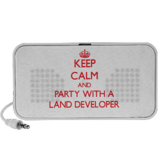 Keep Calm and Party With a Land Developer Mp3 Speaker