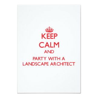 Keep Calm and Party With a Landscape Architect Invites