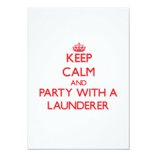 Keep Calm and Party With a Launderer Invites